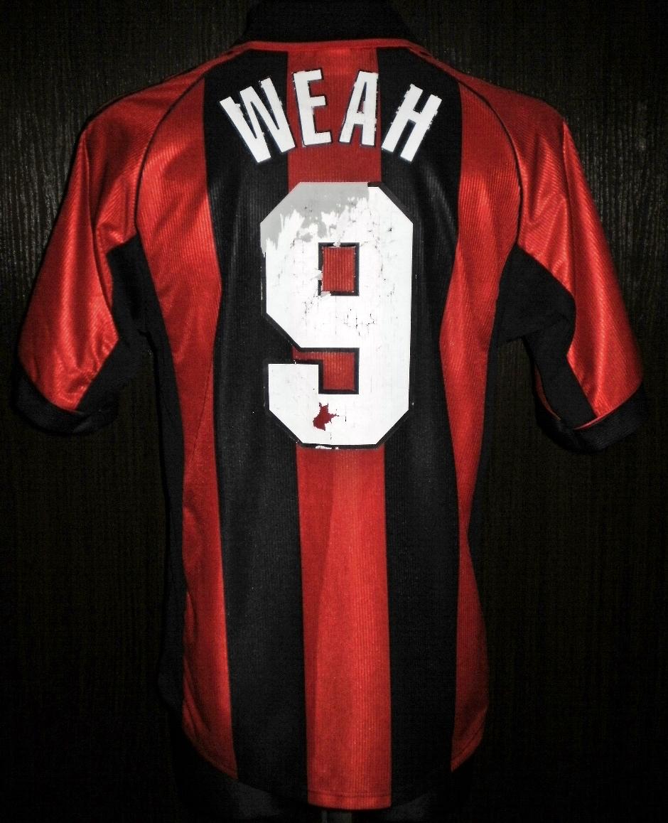 AC Milan Home Football Shirt 1998 1999 Added On 2016 02