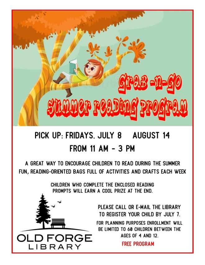 Registration deadline for Grab-n-Go Summer Reading Program