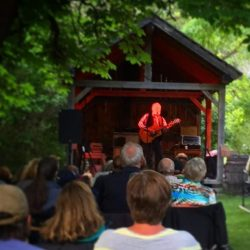 Valdy performing in our Summer Kitchen in summer 2016.