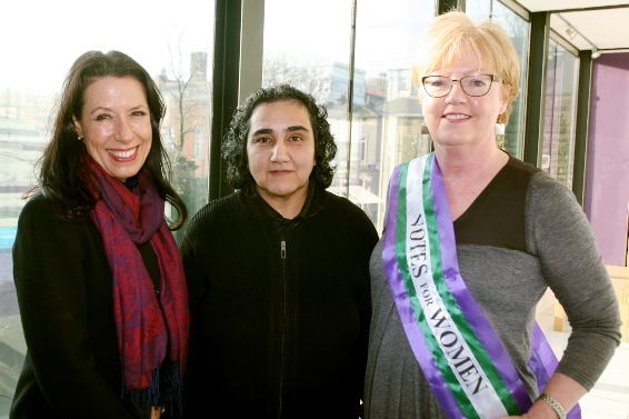 SPEAKING up for women: Debbie Abrahams, Marzia Babakarkhail and Councillor Sue Dearden