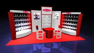 rendering of trade show display