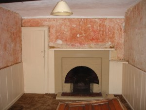 1930's fireplace in Tudor house