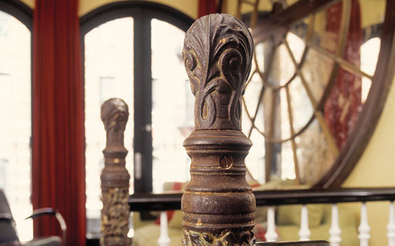 Step Up With A Cast Iron Newel Old House Journal Magazine