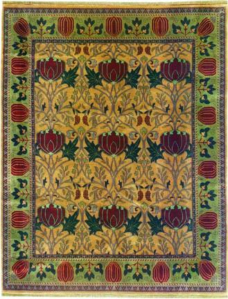 arts crafts rug renaissance old