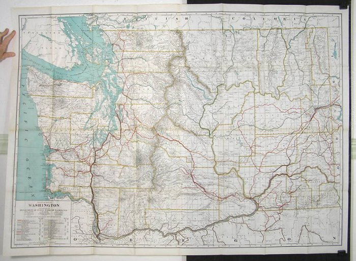 Railroad Map of Washington   WASHINGTON STATE Railroad Map of Washington  WASHINGTON STATE