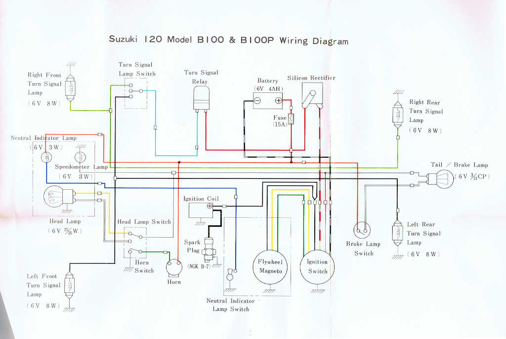 Suzuki B100 B100p Owners Manual