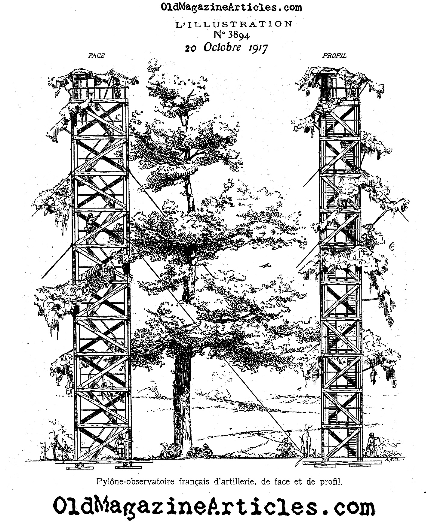 Diagram Of A Ww1 Artillery Observation Tower Ww1 Tower For