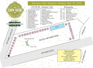 Map for FAMM 5-15-18 | Old Metairie Garden Club