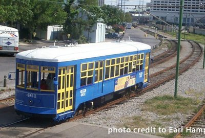 Blue Streetcar | Old Metairie Garden Club