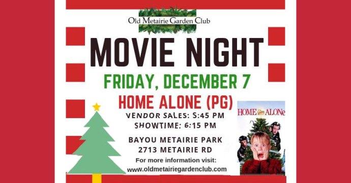 Movie Night Dec. 7 | Old Metairie Garden Club
