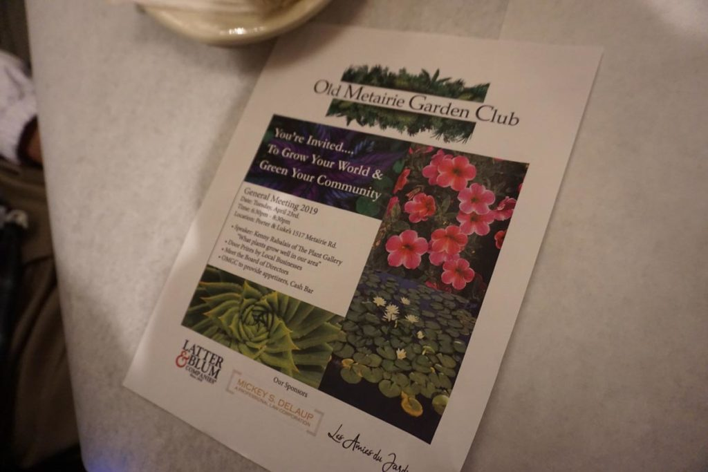 Old Metairie Garden Club General Meeting 4/23/2019 photo 28