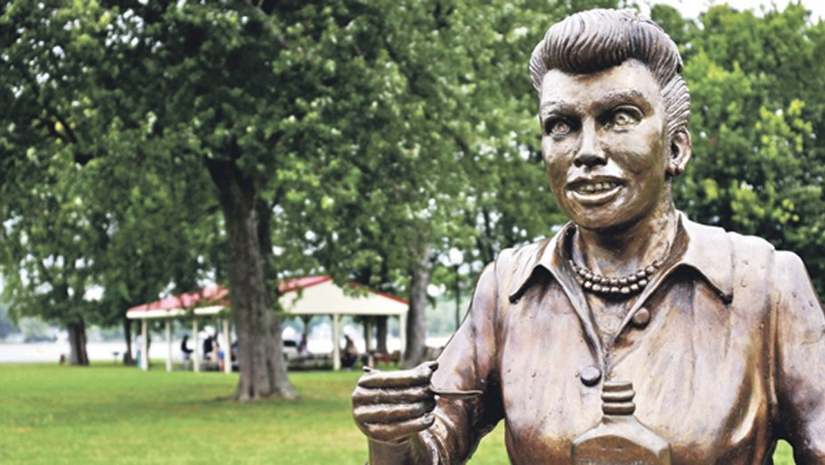 Scary Lucy statue