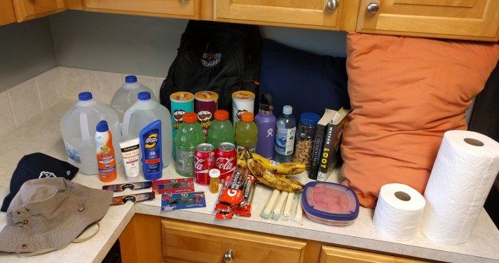 Eclipse road trip supplies