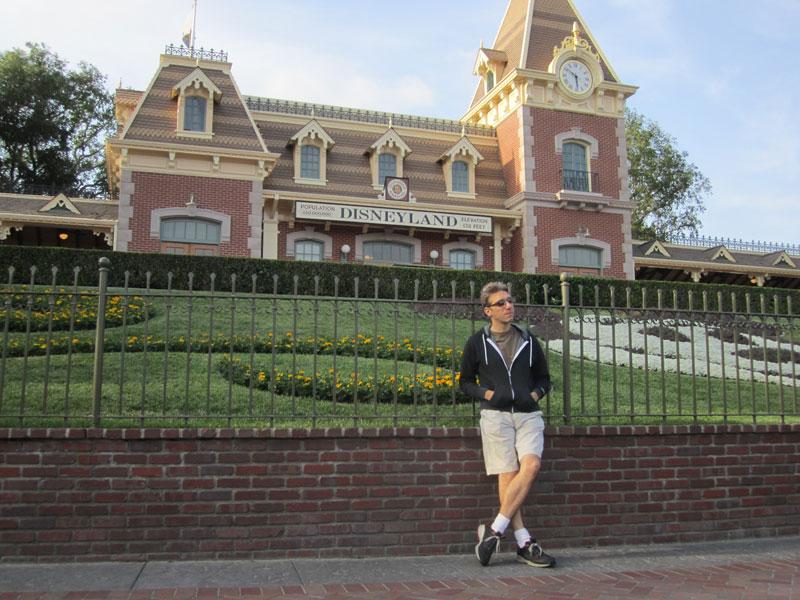 Dude at Disneyland