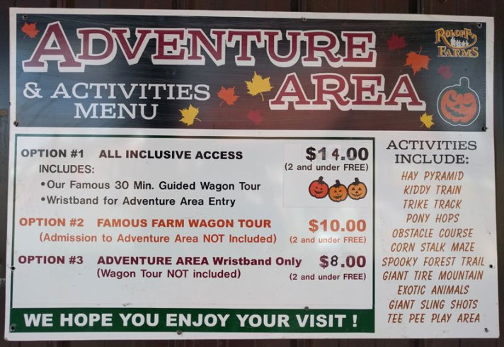 Roloff Farm Ticket Menu