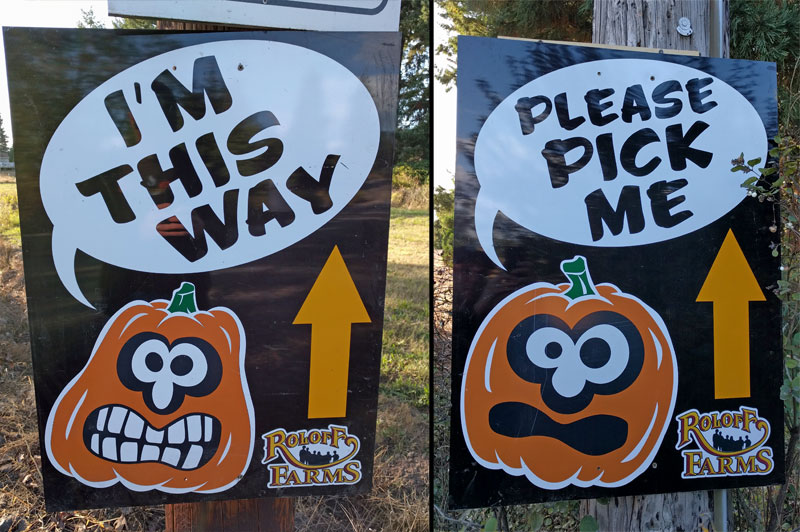 Signs to Roloff Farms