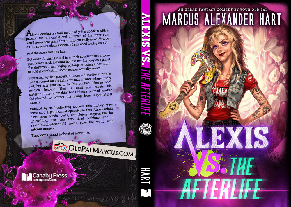 "Paperback cover for ""Alexis vs. the Afterlife."""