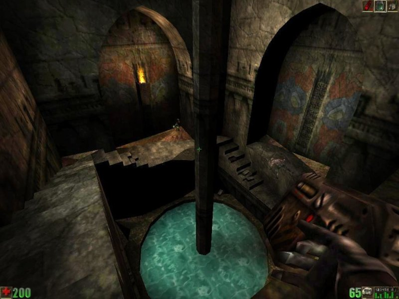 Unreal  1998    PC Review and Full Download   Old PC Gaming The light effects in these old temples look really cool