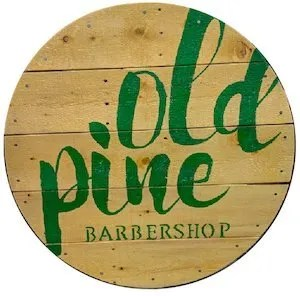 Old Pine Barber Shop Logo