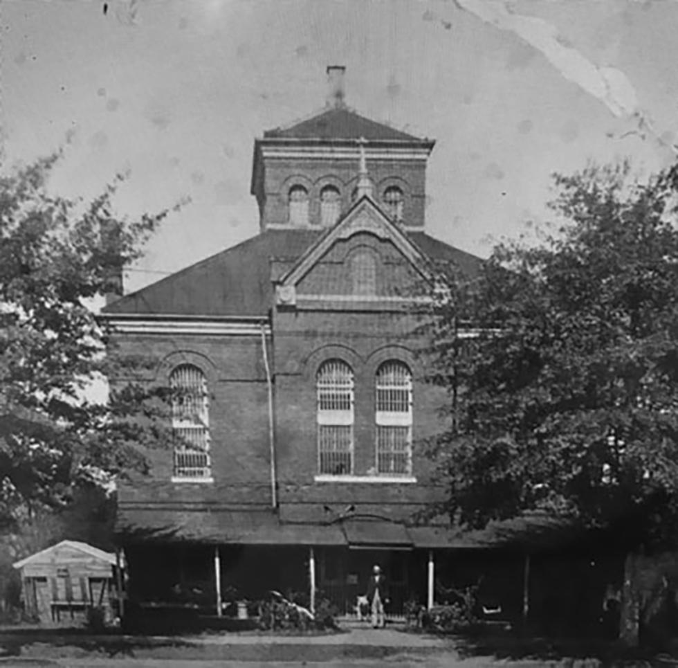 Chambers County Jail, LaFayette, Alabama, photographed around 1920.