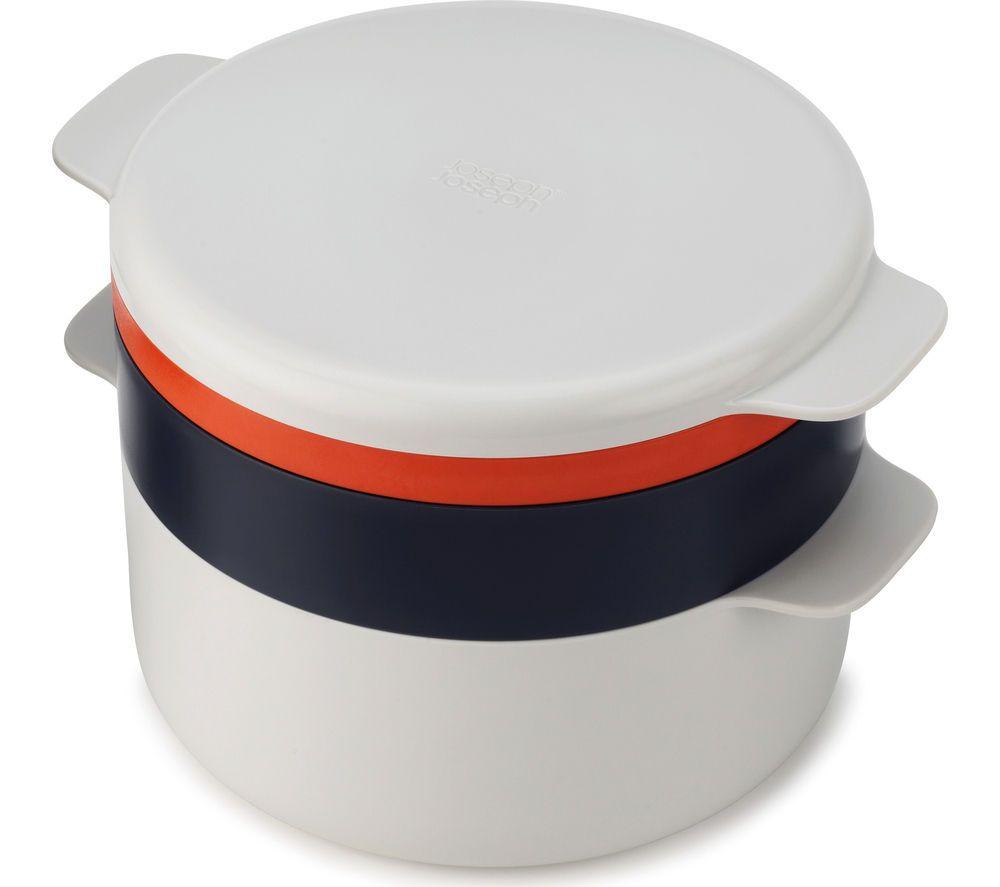 joseph joseph m cuisine 4 piece stackable microwave cooking set stone orange