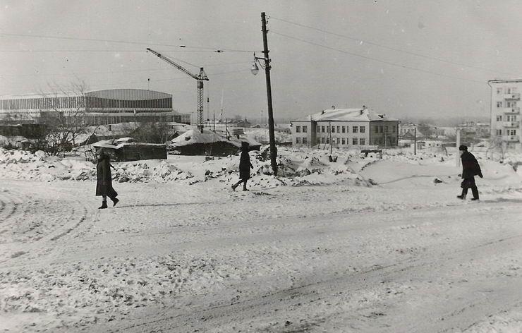 Куйбышев. Пересечение улиц Галактионовской и Полевой. Фотография. Декабрь 1967 года. (с сайта Г. Бичурова)