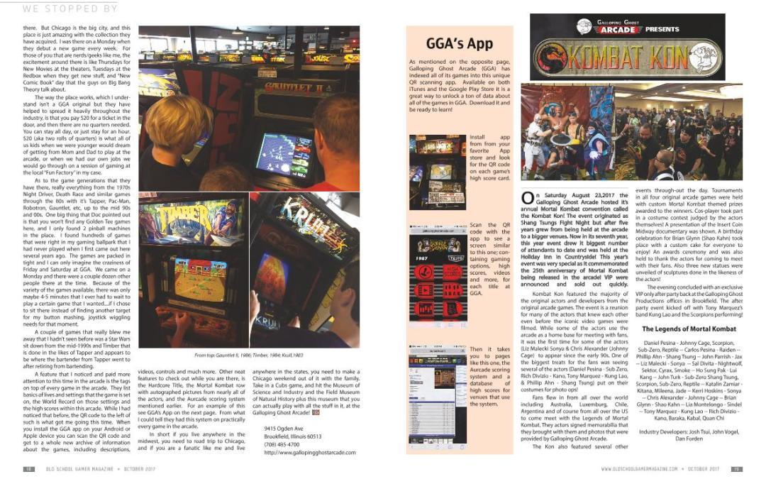 Kombat Kon at Galloping Ghost Arcade