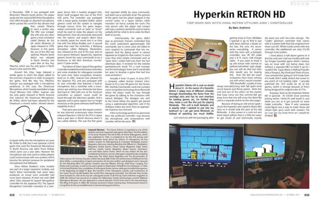 Review: Hyperkin RETRON HD – By Marc Andrews