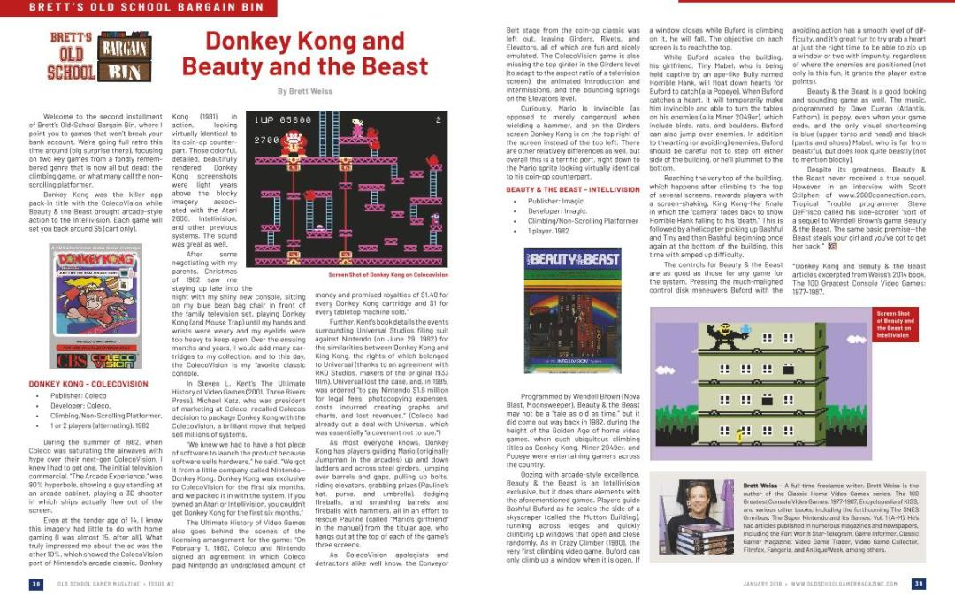 Brett's Old School Bargain Bin: Donkey Kong and Beauty and the Beast – By Brett Weiss