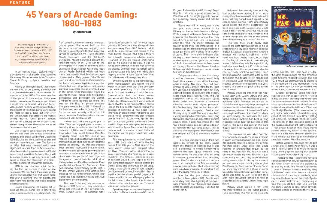 45 Years of Arcade Gaming: 1980–1983 – By Adam Pratt