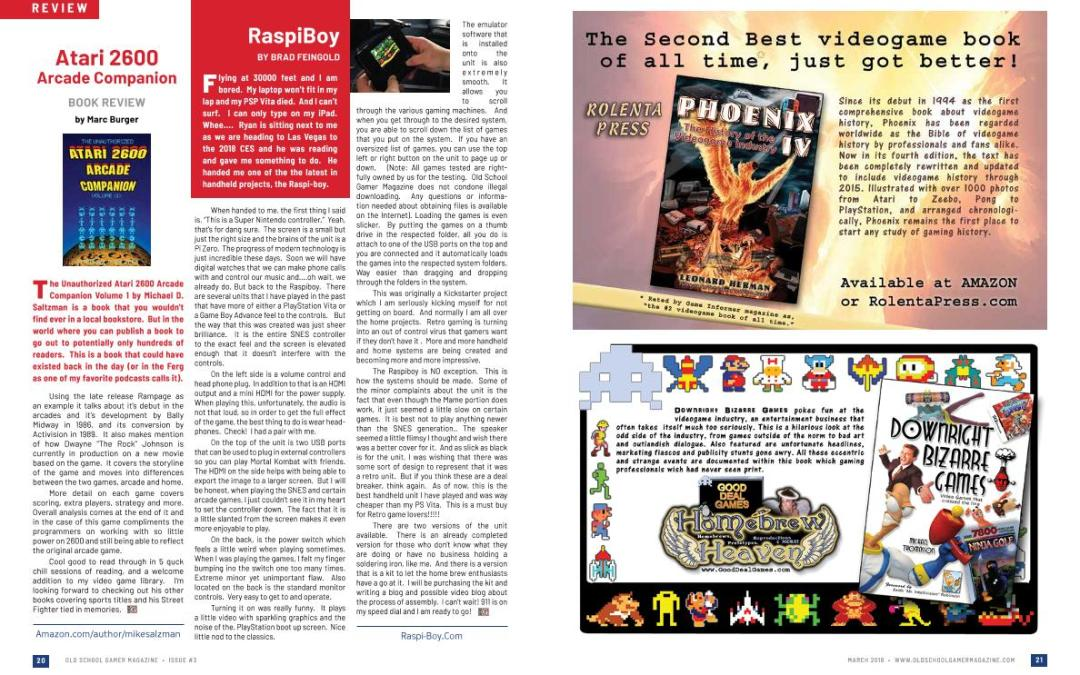 Raspiboy Review and Atari 2600 Arcade Companion Review – By Brad Feingold and Old School Gamer Staff