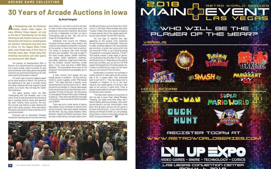 30 Years of Arcade Auctions in Iowa – By Brad Feingold