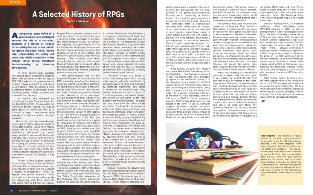 A Selected History of RPGs – By Todd Friedman