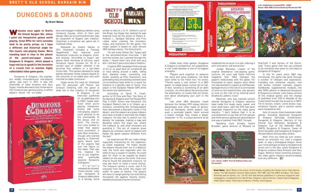 Brett's Old School Bargain Bin: Dungeons & Dragons – By Brett Weiss