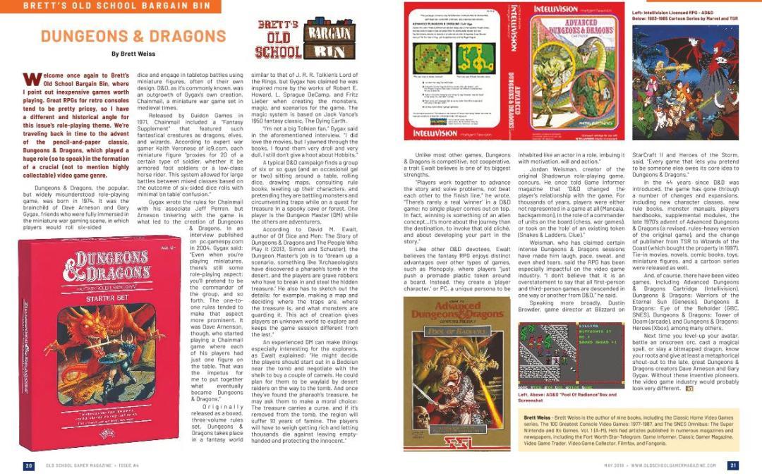 Brett's Old School Bargain Bin: Dungeons & Dragons – By Brett Weiss