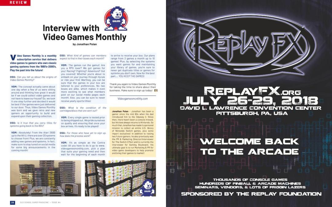 Interview With Video Games Monthly – By Jonathan Polan