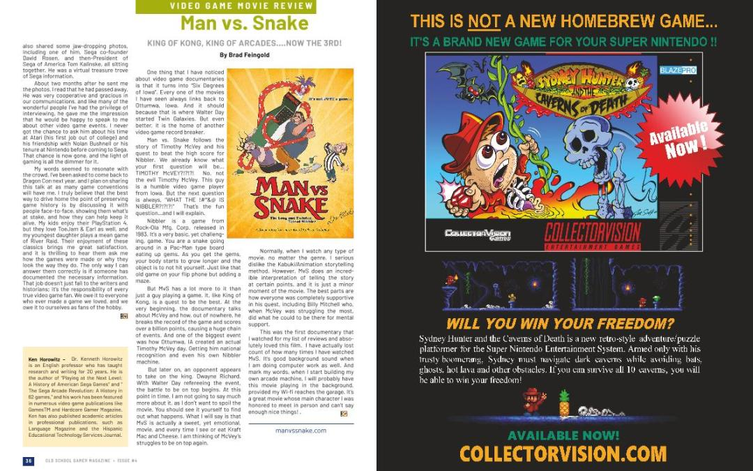 Man Vs. Snake Review – By Brad Feingold
