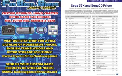 Puregaming.org Collector Info: Sega 32X and SegaCD Pricer