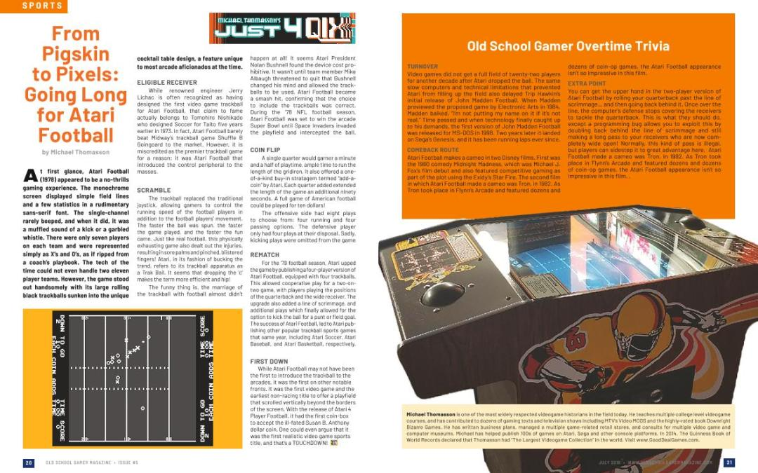 Just for Qix: From Pigskin to Pixels: Going Long for Atari Football – by Michael Thomasson