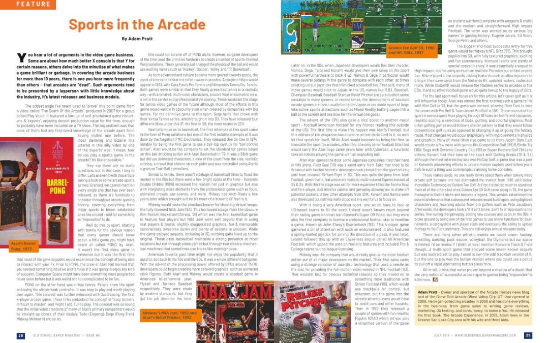Sports In the Arcade – By Adam Pratt