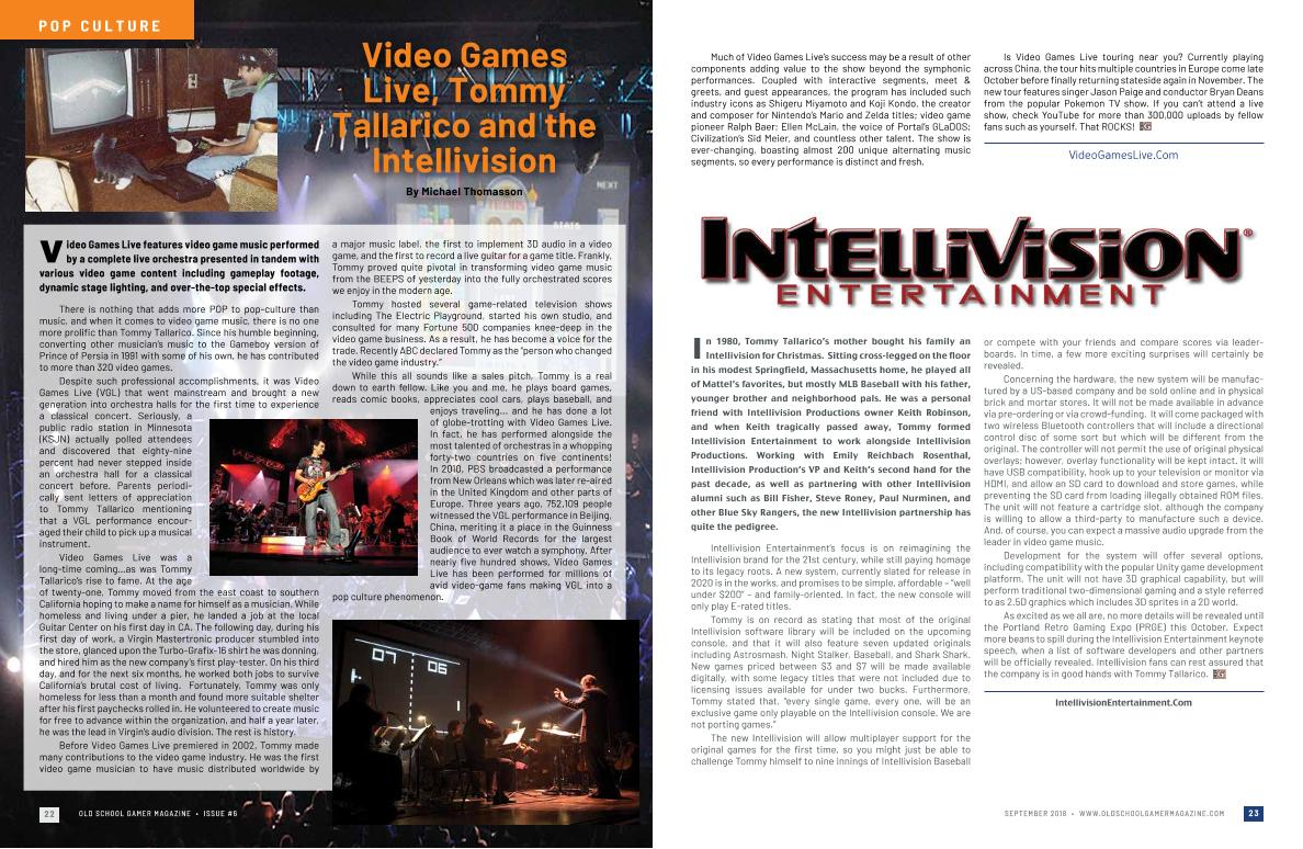Video Games Live, Tommy Tallarico and the Intellivision – By