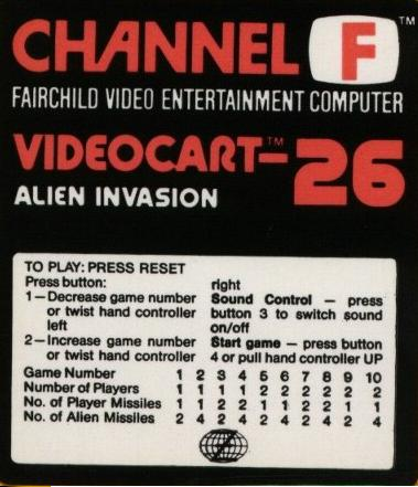 The Last Official Release: Fairchild Channel F – Alien Invasion (1981)