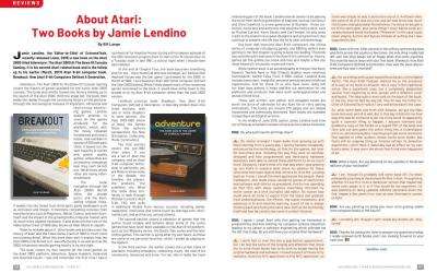 About Atari:Two Books by Jamie Lendino – By Bill Lange