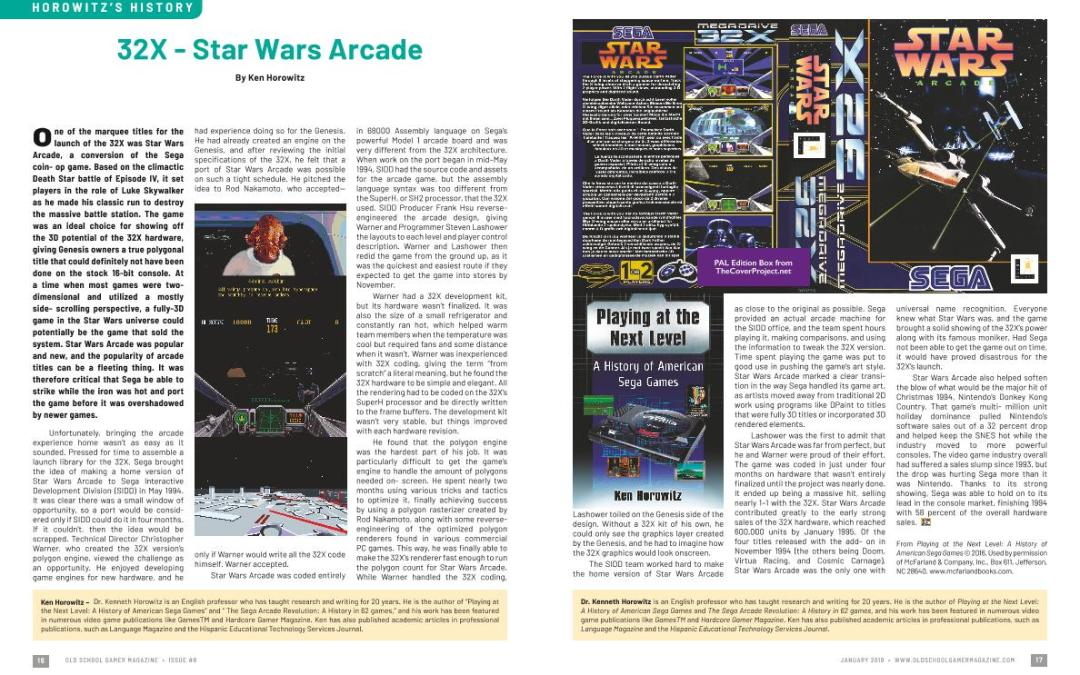 Horowitz's History – 32X – Star Wars Arcade – By Ken Horowitz