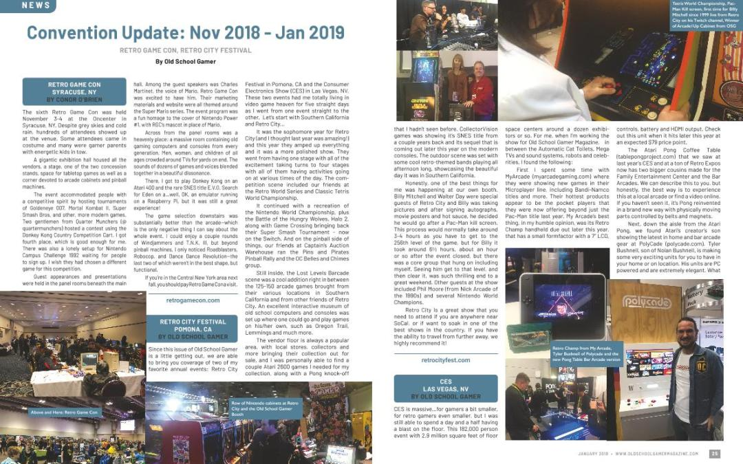 Convention Update: Nov 2018 – Jan 2019 – By Old School Gamer