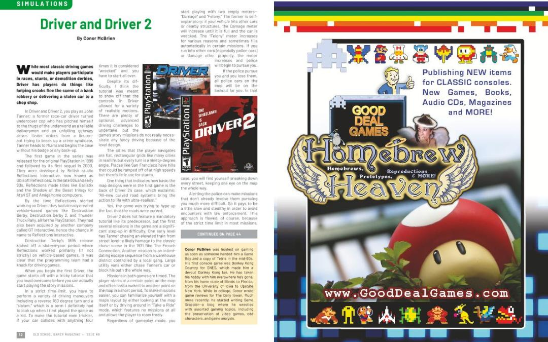 Driver and Driver 2 – By Conor McBrien