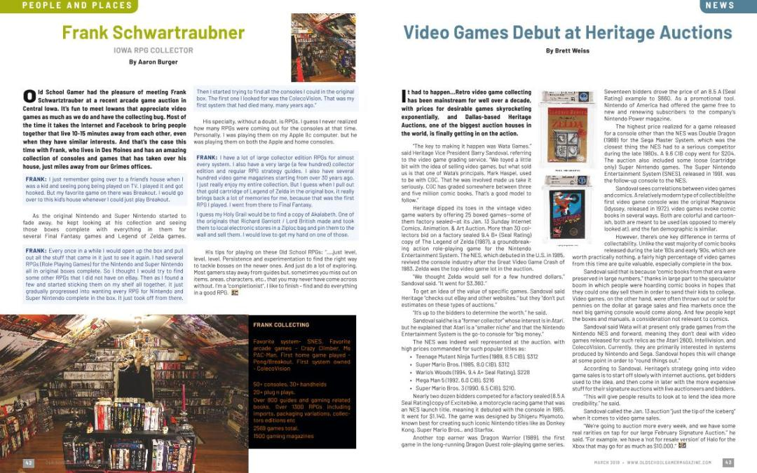 Video Games Debut at Heritage Auctions – By Brett Weiss