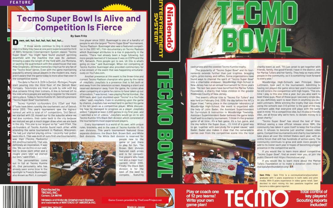 Tecmo Super Bowl Is Alive and Competition Is Fierce – By Sam Fritz