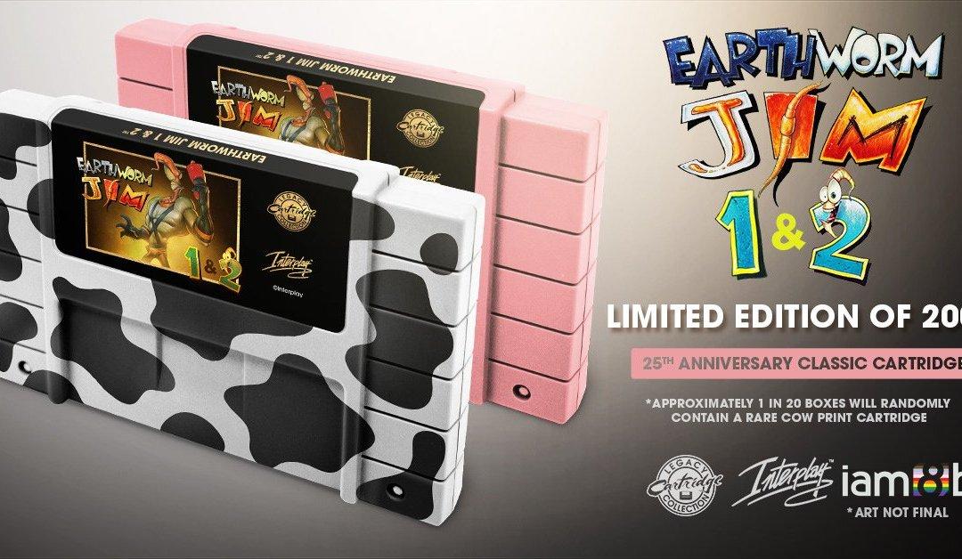 Earthworm Jim 1 & 2 Re-releasing on Combined SNES Cartridge