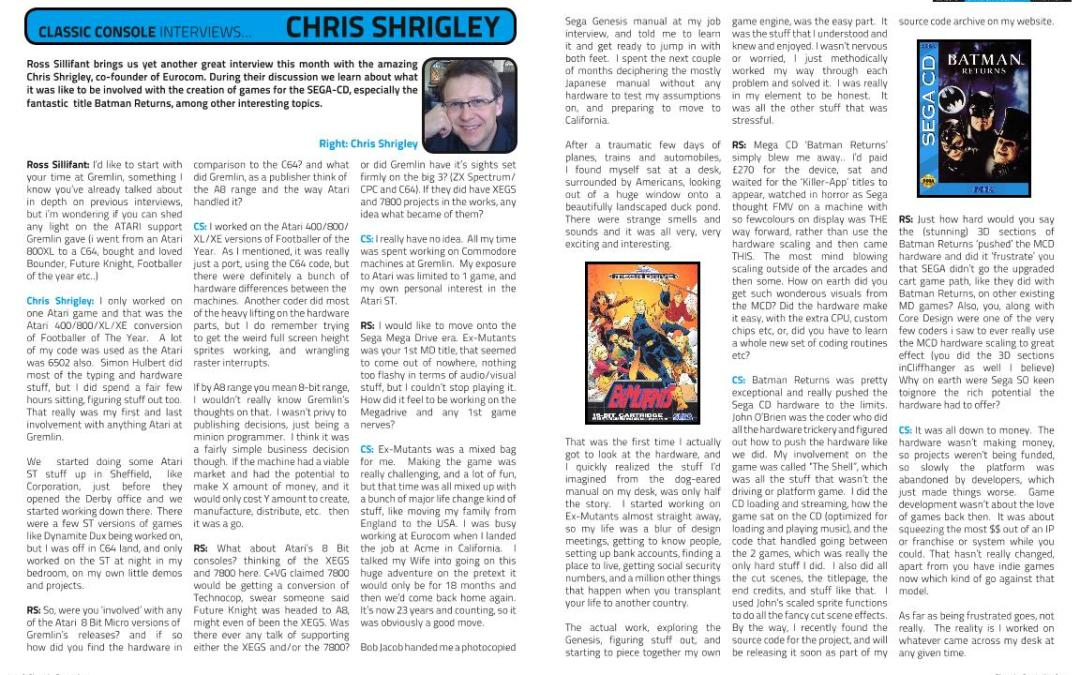 CLASSIC CONSOLE INTERVIEWS with CHRIS SHRIGLEY